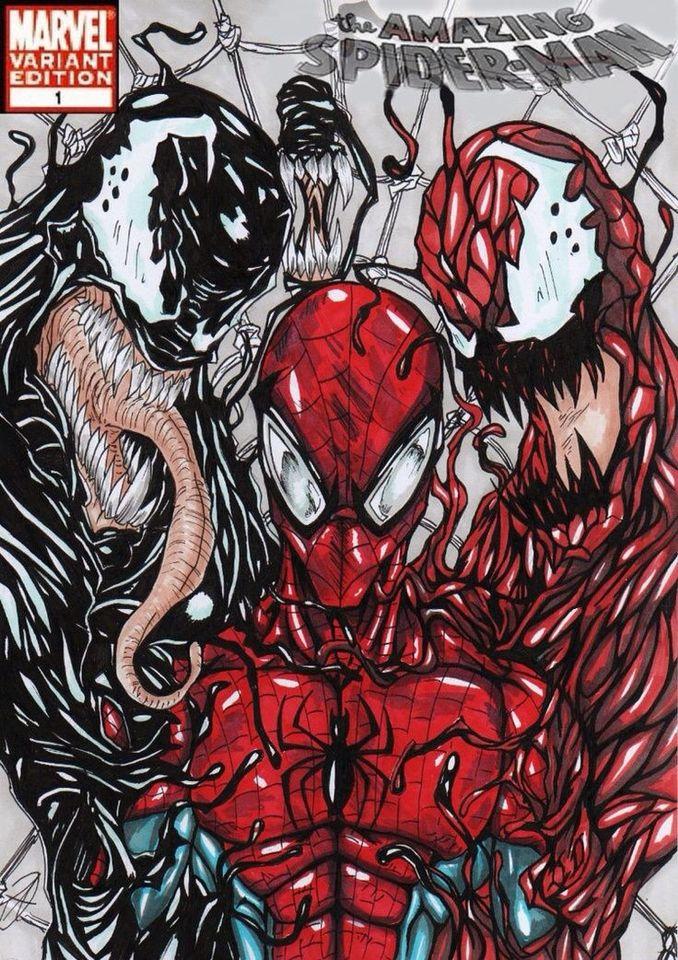 Spider Man Venom Carnage Tattoo: Marvel Cómics, Héroes Marvel