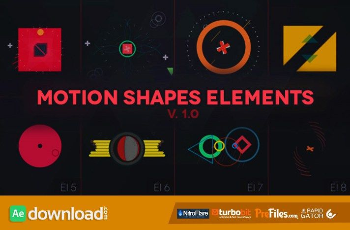 Motion Shapes - Animated Elements Free Download After