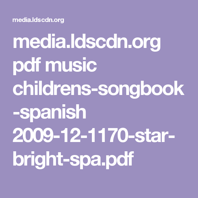 Childrens Songbook Pdf