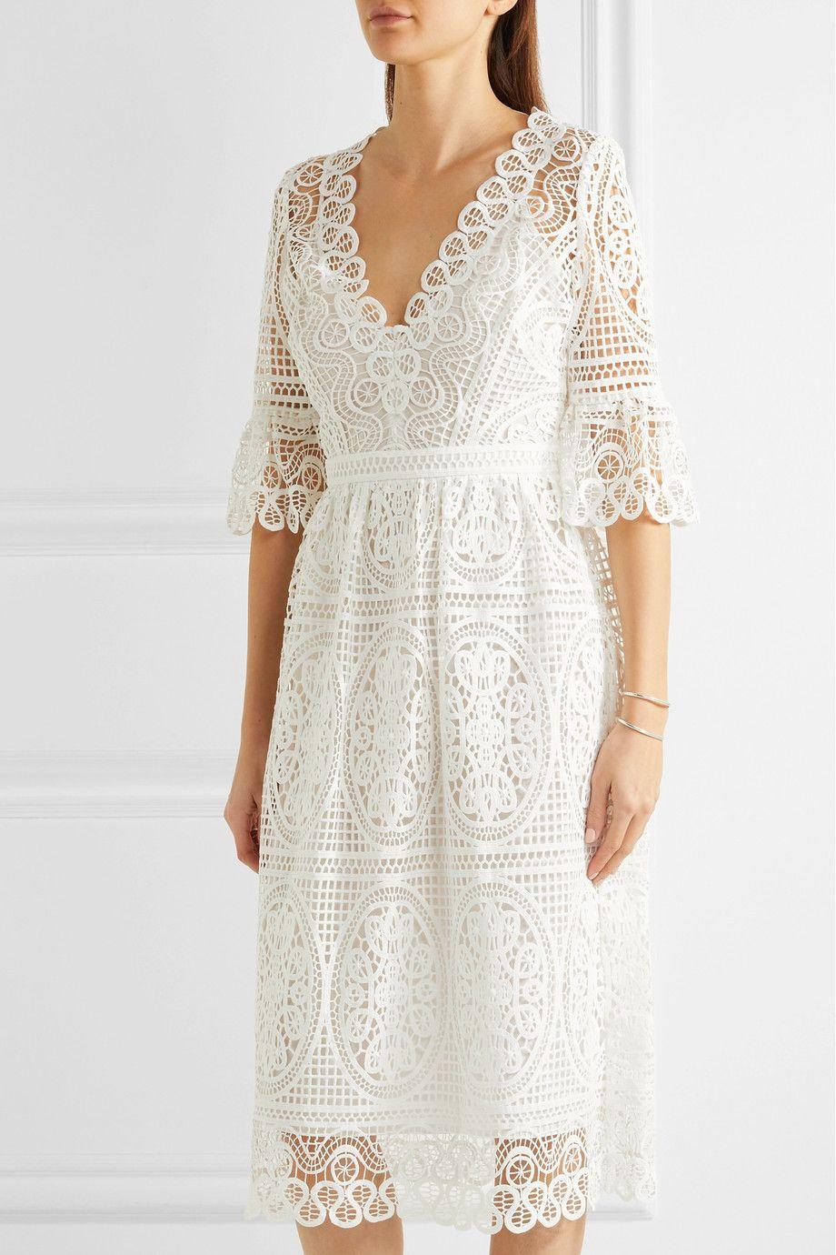 Temperley London - Titania guipure cotton-lace midi dress