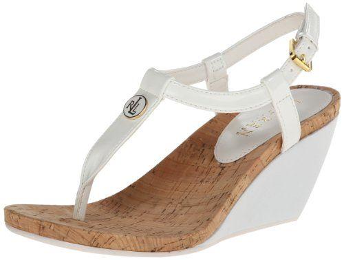 Amazon.com | Lauren Ralph Lauren Women's Reeta Wedge Sandal | Platforms &  Wedges