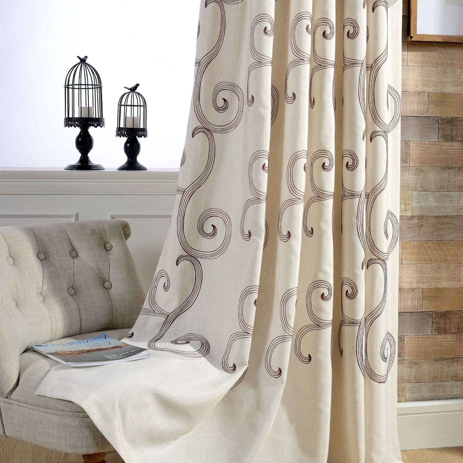 curtain panel blackout x charcoal home inch kitchenl i patio grommet eclipse amazon lined insulated curtains blinds door com homespun thermal