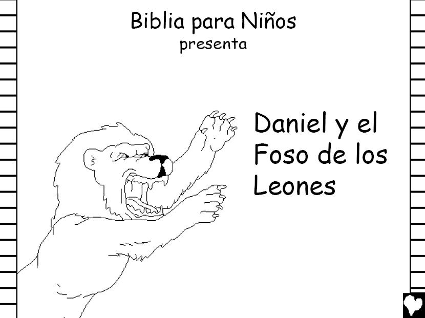 Libro completo para colorear de Daniel en el foso de los leones ...