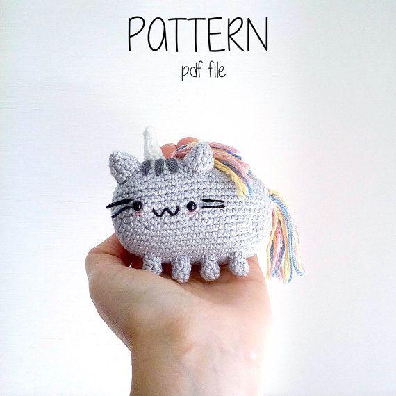 Pusheencorn the Cat Pattern Amigurumi | amigurumi | Pinterest | Gato ...