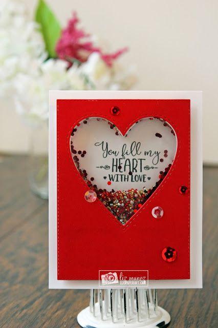 Liz S Paper Loft Mct December Release Sneak Peek Day 4 Fill My Heart Valentines Cards Card Craft Cardmaking