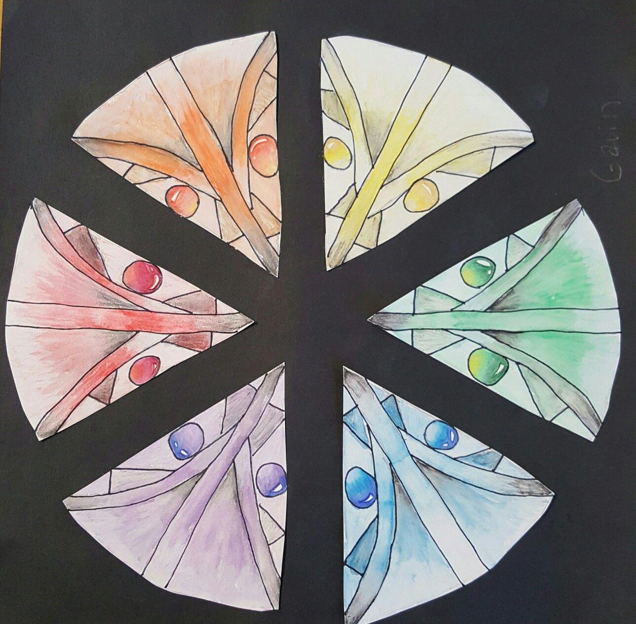 Gem Colorwheel Watercolor 8th Grade Lowell Middle School