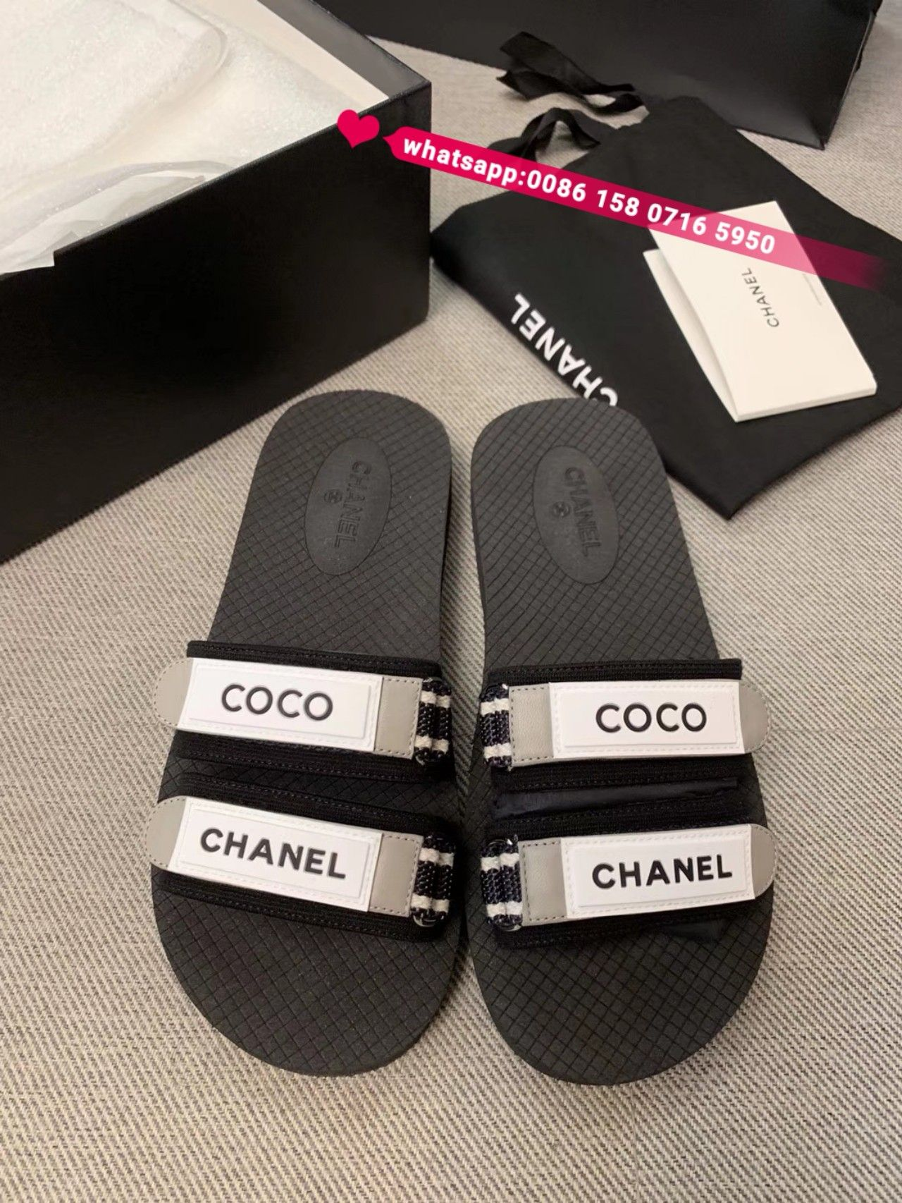 Chanel slides slippers women shoes