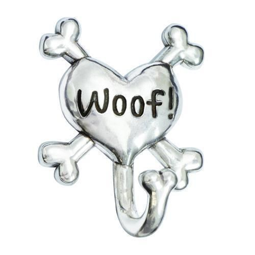 Woof Heart Crossbones Dog Leash Hook