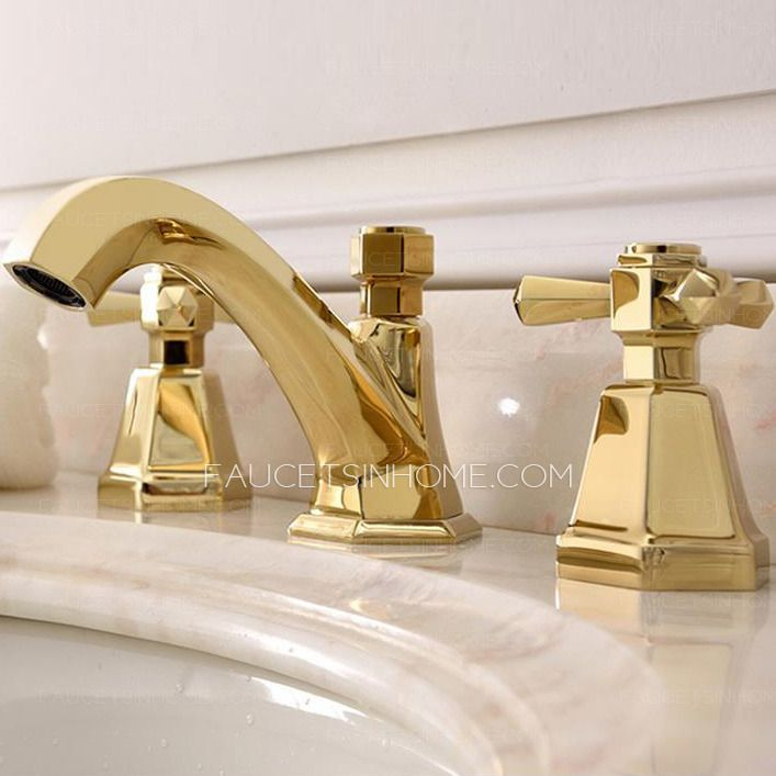 Photo of Antique brass bathroom fittings