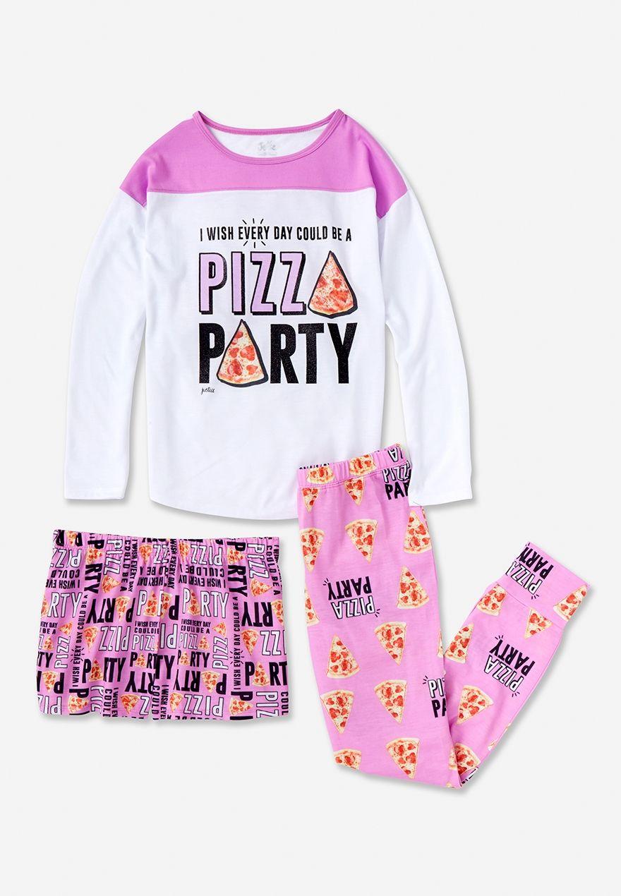 cf1fb2d67c67 pizza party 3-piece sleep set