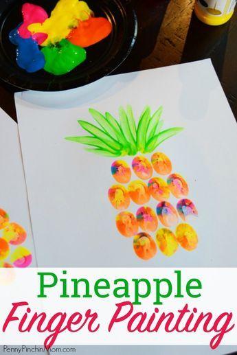 pineapple finger painting pinterest summer art projects toddler