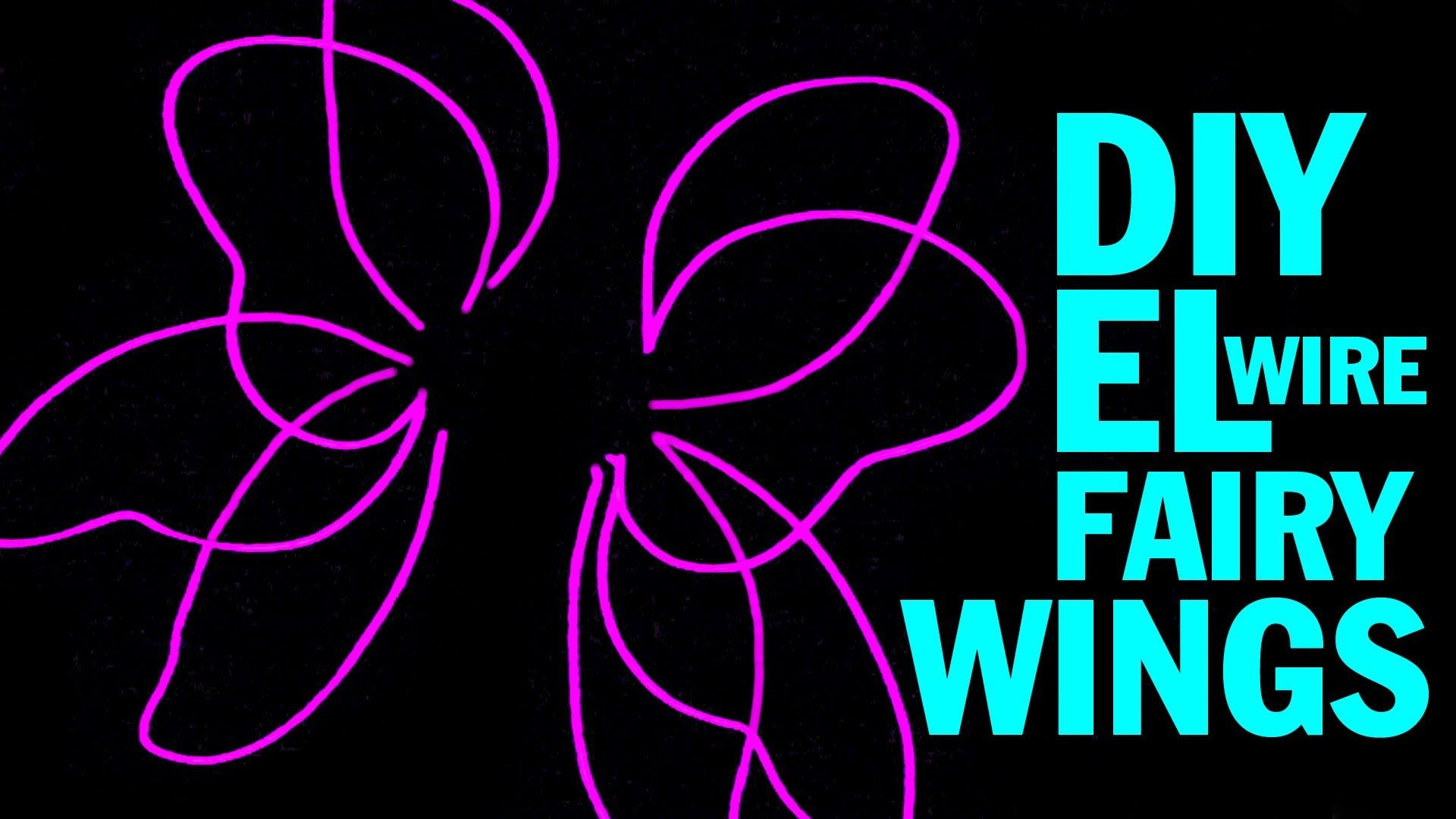 Diy El Wire Fairy Wings And Wing Structure Tutorial Fairy Wings Costume Threadbanger Fairy Wings