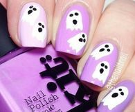 Purple Ghost Nails Halloween Pinterest Nail Art Pictures