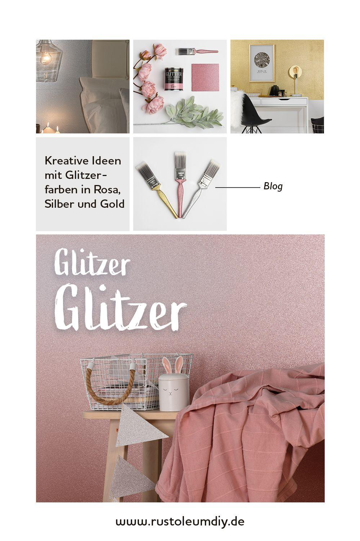 Sparkle Your Life Diy Mit Glitzerfarbe Rust Oleum In 2020 Kinderzimmer Gestalten Wandgestaltung Rosa Schlafzimmer Gestalten