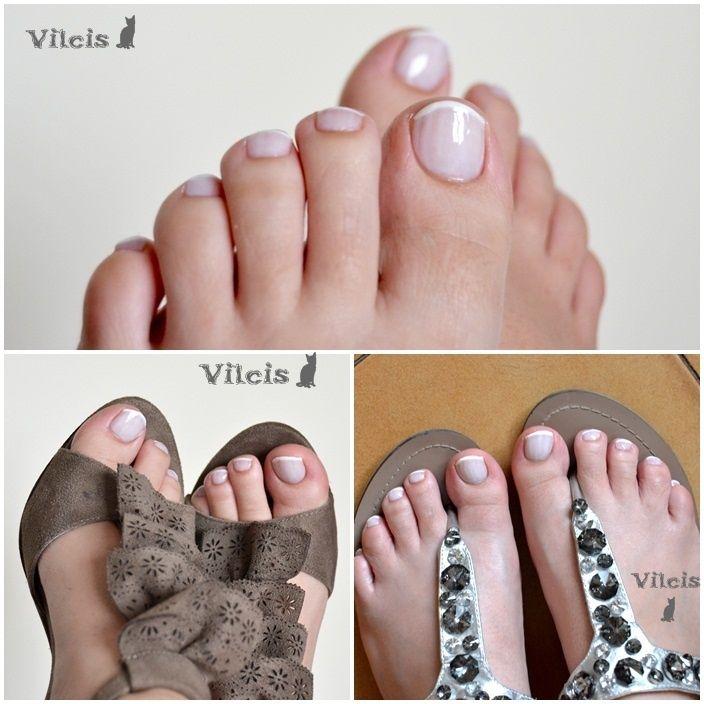 DiseA±o de uA±as: pedicura francesa. French pedicure nail design ...