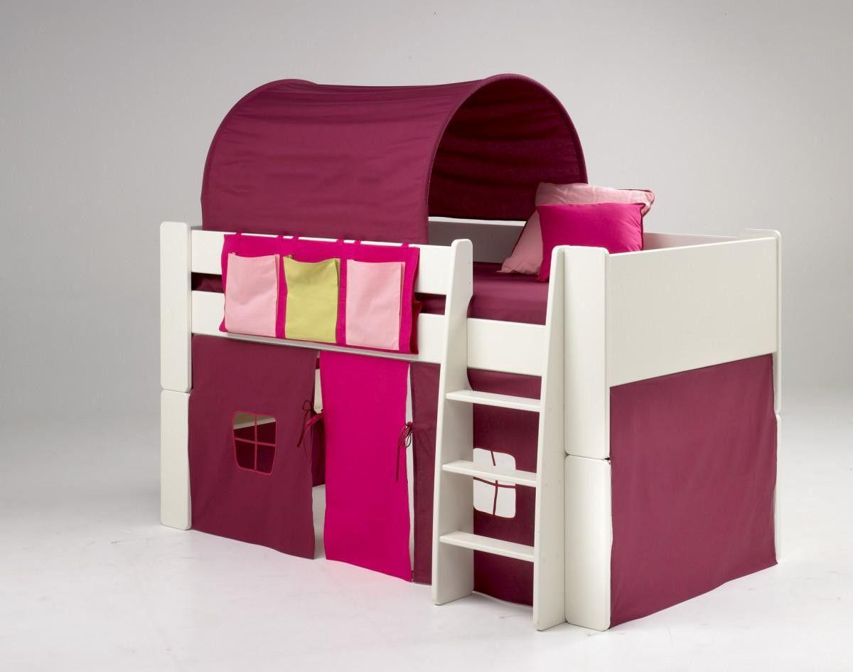 Bett Tunnel Best Of Kinderbett Hochbett Bett Tunnel Vorhang Lila Pink Mdf Weiss Bed Tent Mid Sleeper Bed Bunk Bed Accessories