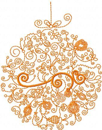 Modern Christmas Ball Machine Embroidery Design Machine Embroidery