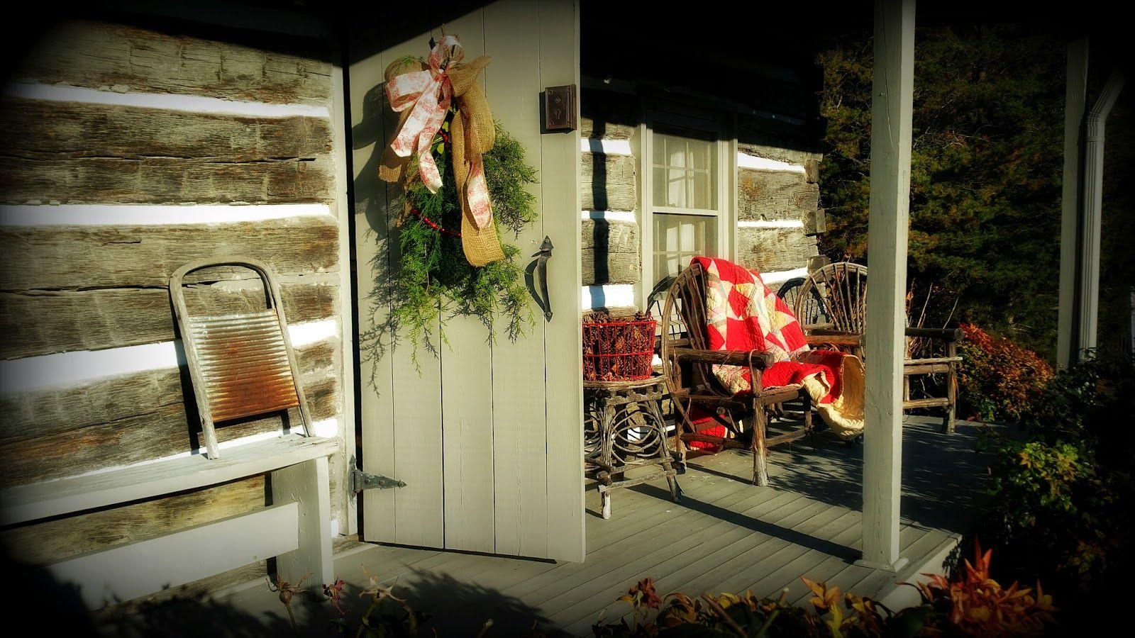 An Old Fashioned, Log Cabin Christmas at HappyDaysFarm