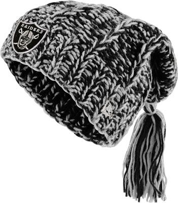 Oakland Raiders Women's New Era Winter Slouch Knit Hat
