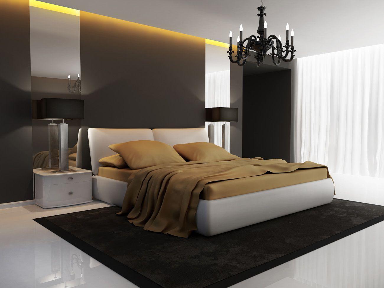 Chic luxury hotel gold black bedroom chandelier perspective chic luxury hotel gold black bedroom chandelier perspective aloadofball Gallery