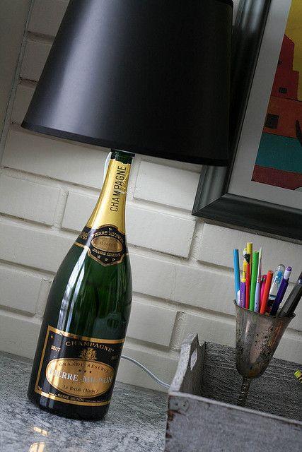 бутылка из под шампанского в очко увидев такое