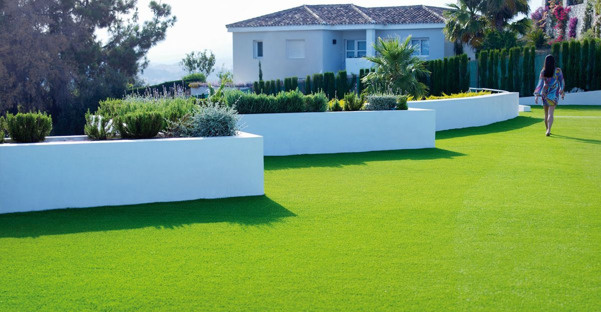 césped artificial para jardín. #cespedartificial más información