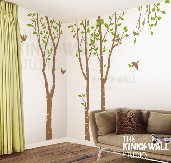 Birch Trees Forest Wall Decal Living Room Decals Sticker Home Decor