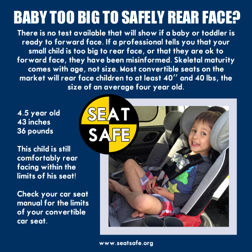 Extended Rear Facing >> Car Seat Safety Rear Facing Is Safest Until The Limit Of The