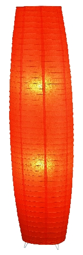 Myra - papierové stojanové svietidlo oranžové - 1300mm