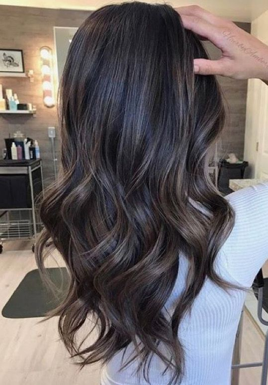 Subtle Ash Highlights On Dark Brunette Base Hair Pinterest Ash