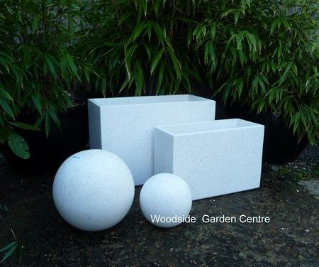 Large White Terrazzo Tall Dividers Pot Planters | Woodside Garden Centre |  Pots To Inspire