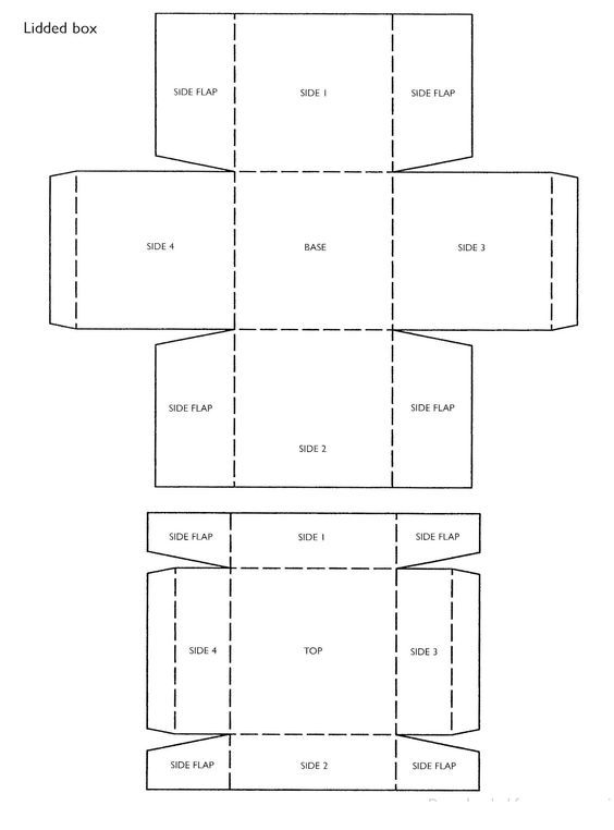 paper box with lid template square box template with lid a copy of