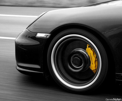 Porsche Yellow Caliper Carbon Ceramic Brakes porsche