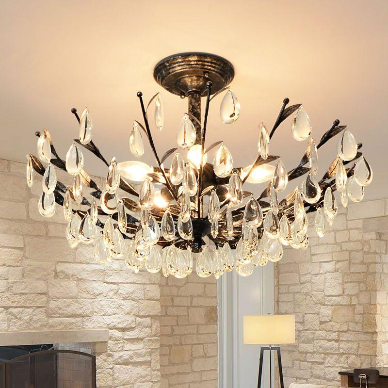 Goedkope Crystal Plafond verlichting ronde Boom lamp met led lampen ...