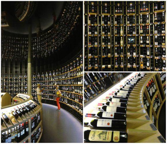 La cave de la Cité du Vin Bordeaux - blog Bar à Voyages | Muse ...