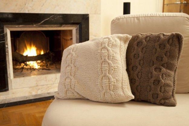 Modelli Cuscini Per Divani.Lavori A Maglia Cuscini Knitting For Hobby Cuscini A