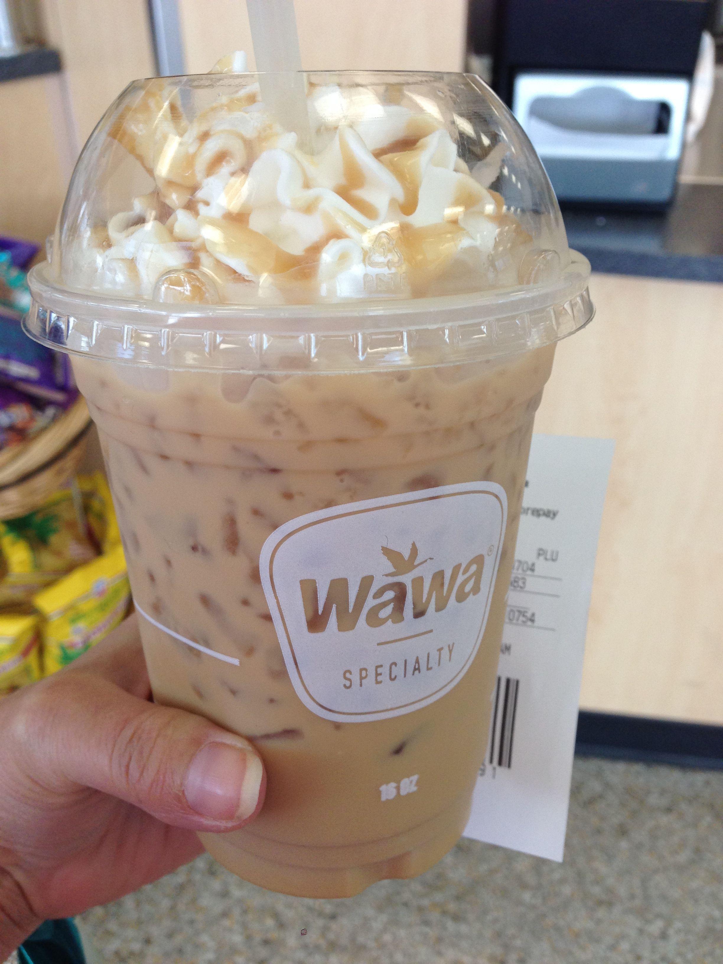 Pumpkin Caramel Iced Latte Coffee Thank You Wawa Yummy Coffee