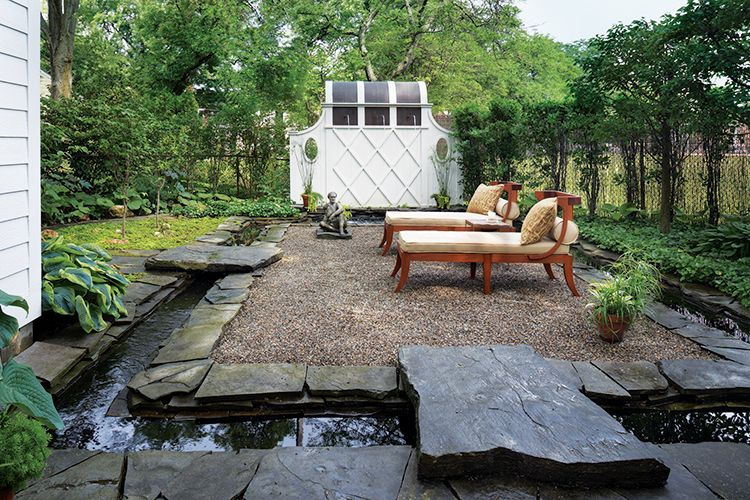 Pin By Hour Detroit On 2014 Detroit Home Design Awards Exteriors Water Features In The Garden Backyard Backyard Cottage