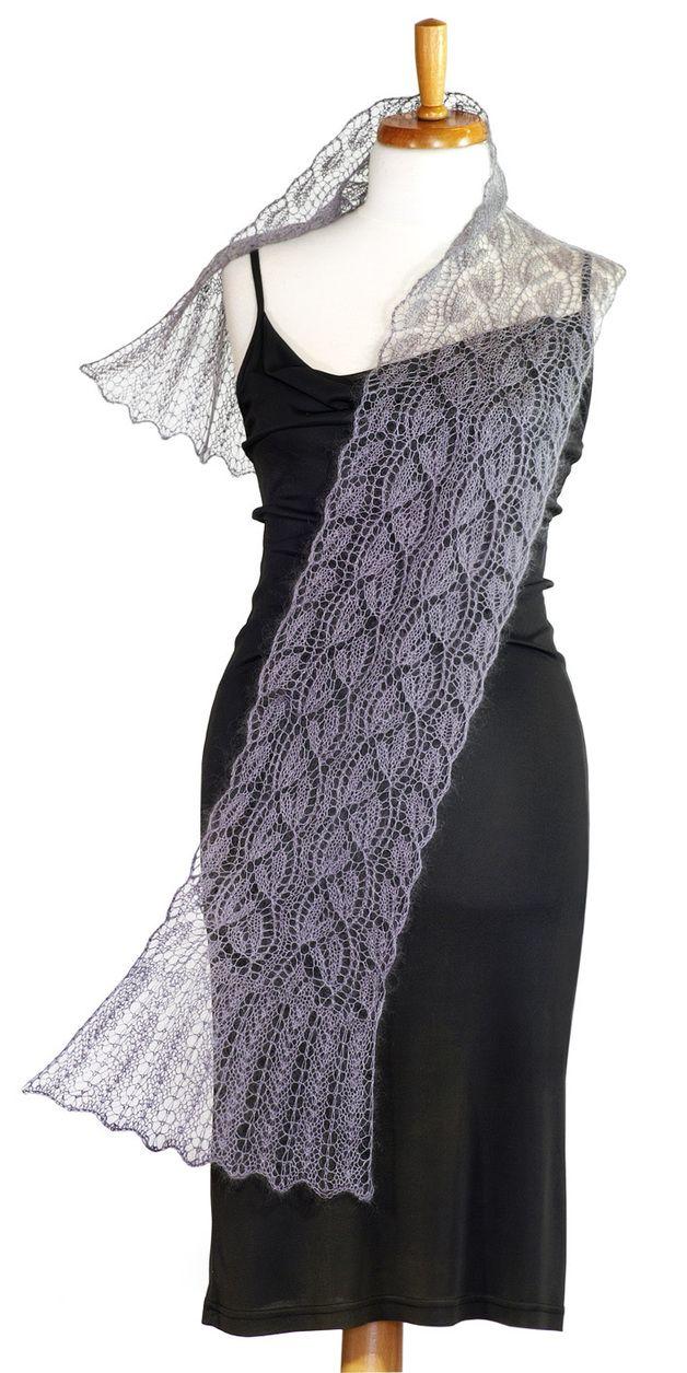 Ein Zauberhafter Lace Schal Mit Anleitung A Wonderful Lace Shawl