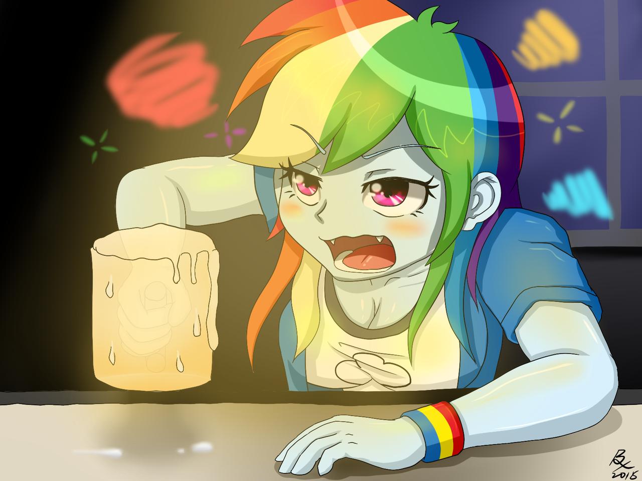 drunk Rainbow dash