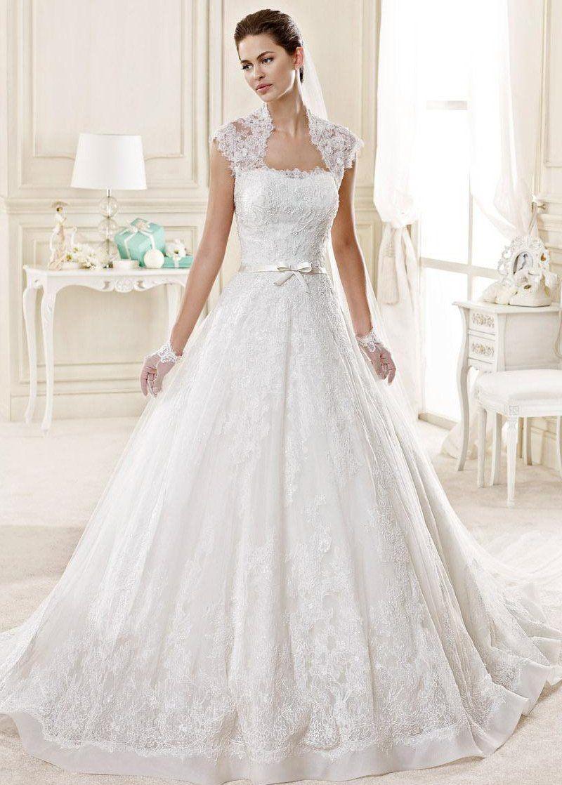 Simple Wedding Dress, Elegant Tulle & Organza Queen Anne
