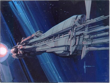 "Aliens (1986) - ""Sulaco"" warship concept art by Syd Mead"