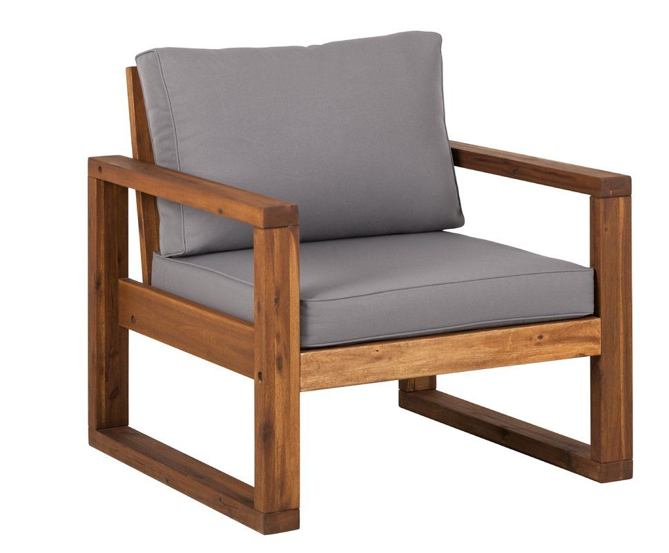 Lydon Patio Chair with Cushion and Ottoman is part of Lounge chair outdoor - You'll love the Lydon Patio Chair with Cushion and Ottoman at AllModern  With Great Deals on modern Outdoor products and Free Shipping on most stuff, even the big stuff