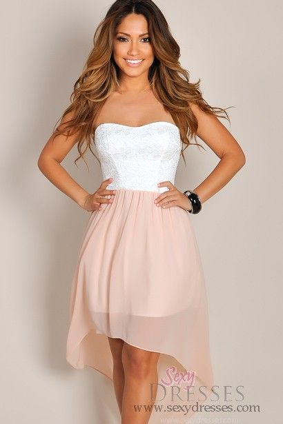 1000  images about High low dresses on Pinterest  Strapless dress ...