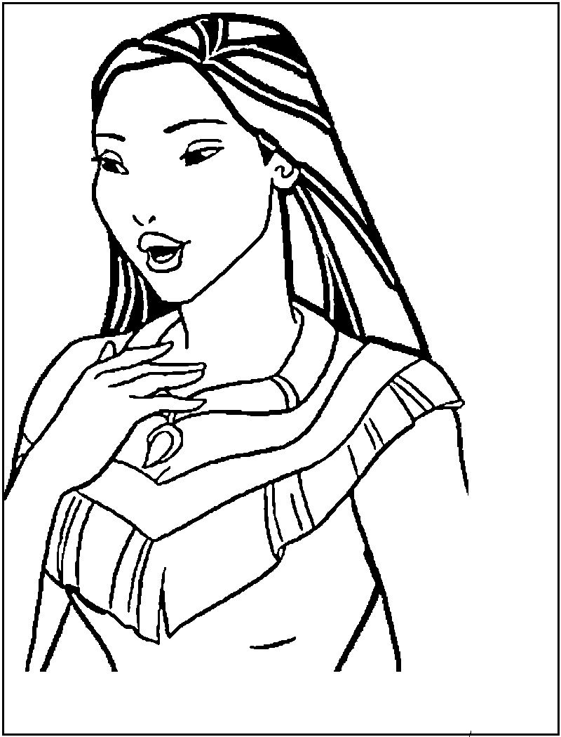 Pocahontascoloringpagesonlineg coloring pages pinterest