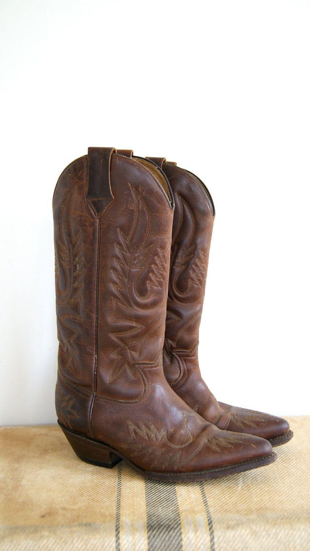 b6e06c1a447 Vintage Cowboy Boots. Women's Western Boots. 7.5   Shoes   Boots ...