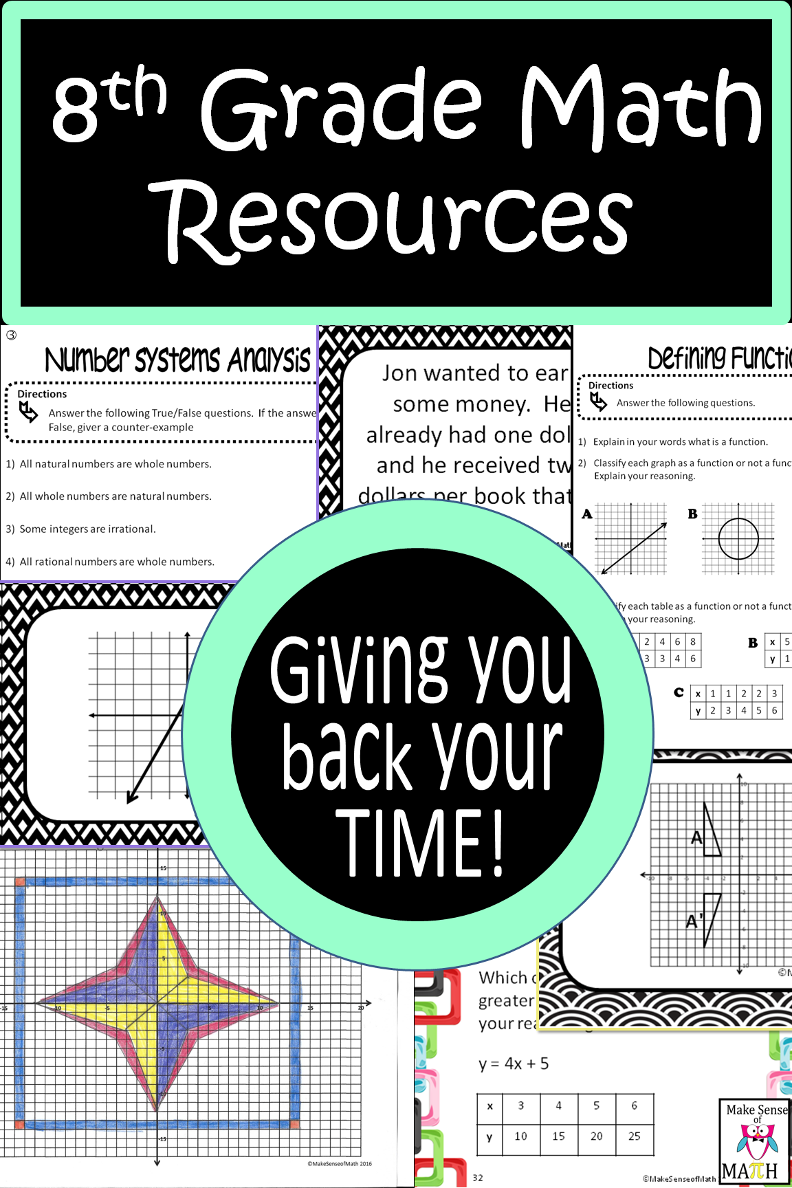 8th Grade Math Resources and Activities for Middle School Math ...