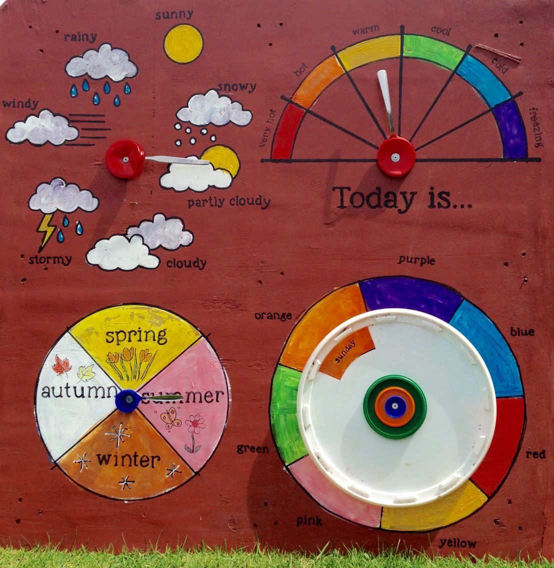 Kids Weather Calendar : Interactive calendar board what is the weather how