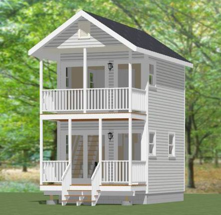 12x16 Tiny House 12X16H1 364 Sq Ft