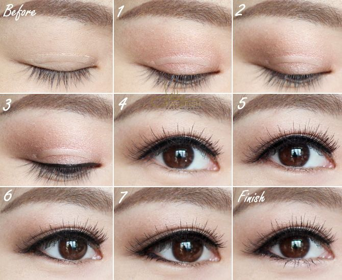 Use Sticker strip to fake double eyelids. Asian Makeup Prom, Prom Makeup,  Bridal